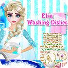 Elsa Washing Dishes игра