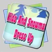 Kids And Snowman Dress Up игра