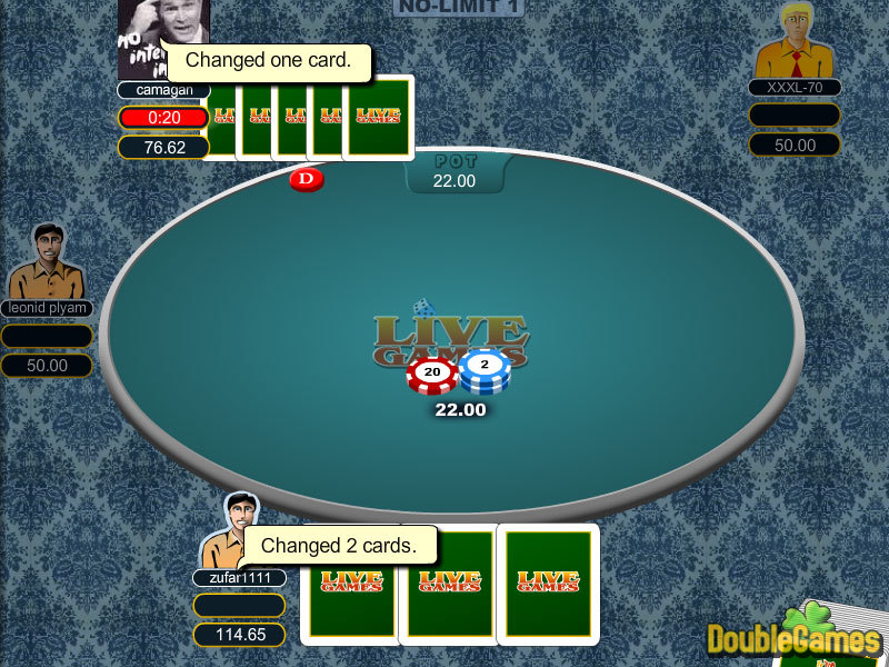 Free Download 5 Card Draw Poker Screenshot 1