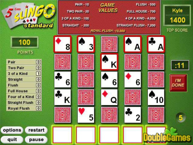 Free Download 5 Card Slingo Screenshot 3