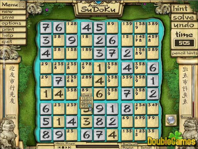 Free Download Ancient Sudoku Screenshot 2