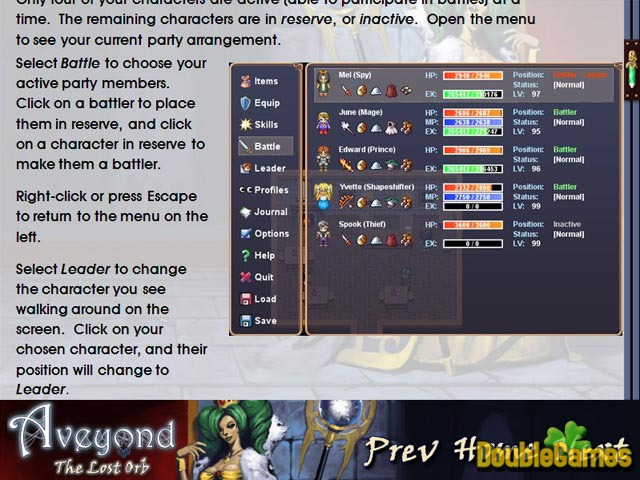 Free Download Aveyond: The Lost Orb Strategy Guide Screenshot 1