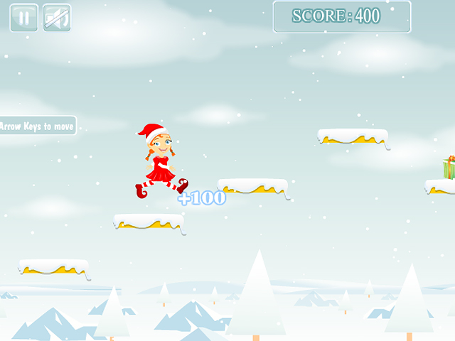 Free Download Christmas Girl Jumps Screenshot 2