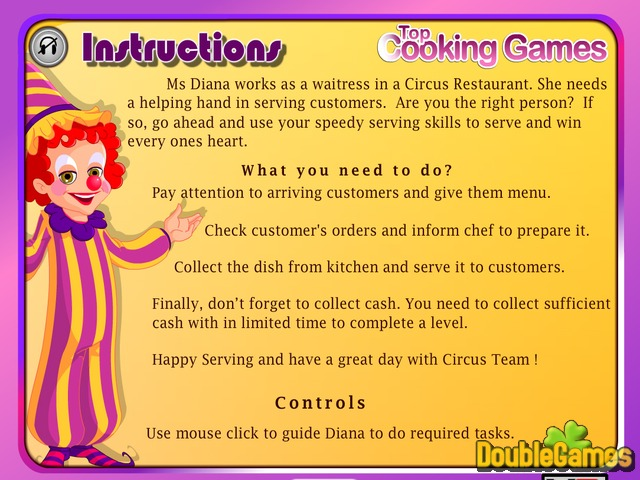 Free Download Circus Restaurant Screenshot 1