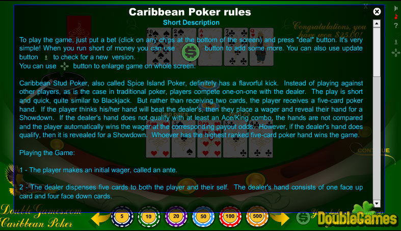 Free Download Classic Caribbean Poker Screenshot 2