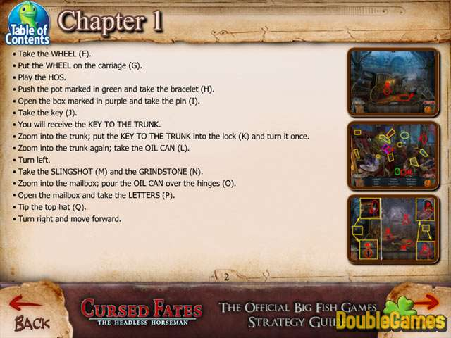 Free Download Cursed Fates: The Headless Horseman Strategy Guide Screenshot 1