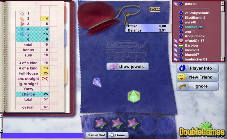 Free Download Diamond Yatzy Screenshot 1