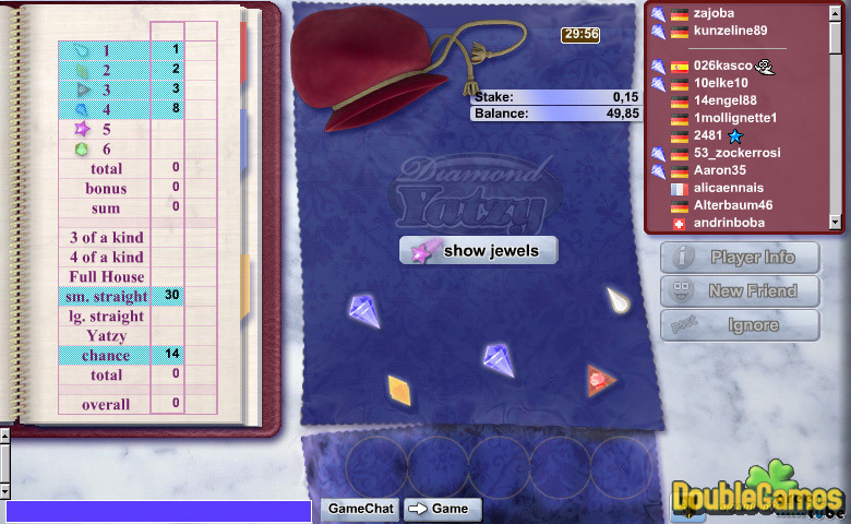 Free Download Diamond Yatzy Screenshot 3