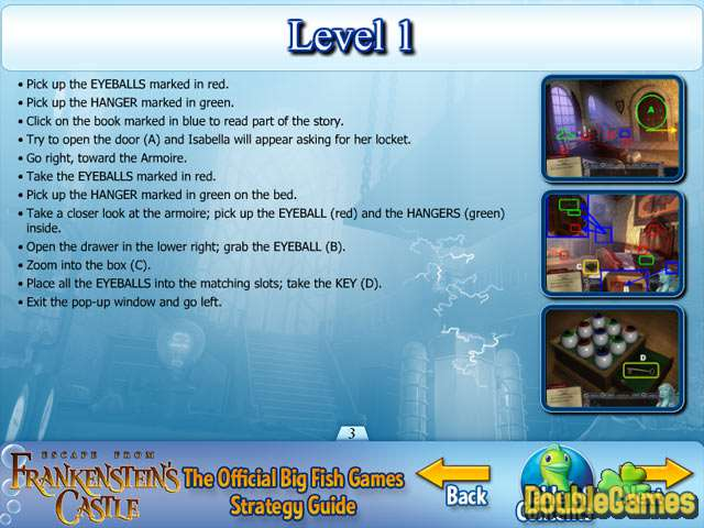 Free Download Escape from Frankenstein's Castle Strategy Guide Screenshot 1