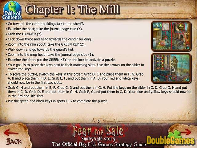 Free Download Fear for Sale: Sunnyvale Story Strategy Guide Screenshot 3