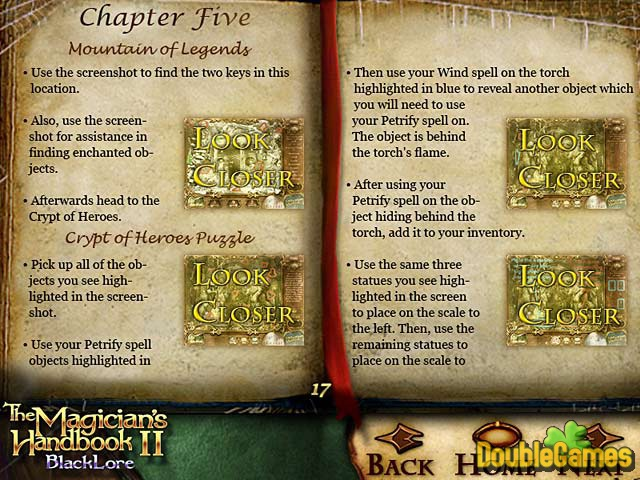 Free Download The Magician's Handbook II: BlackLore Strategy Guide Screenshot 3
