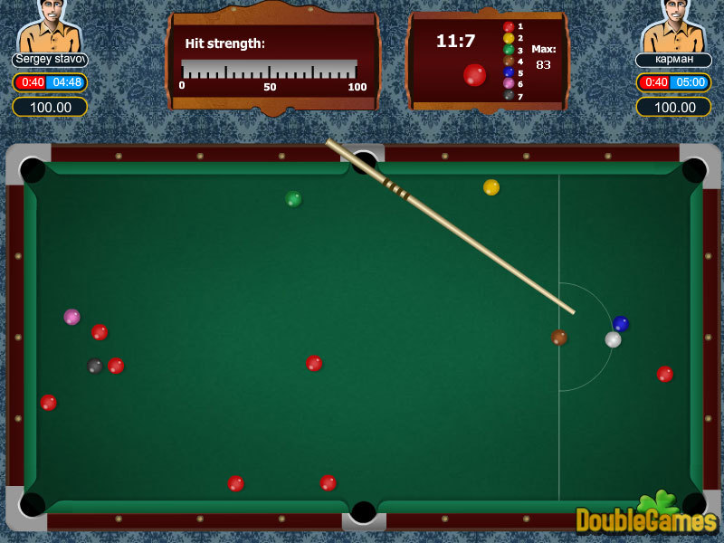 Screens Zimmer 1 angezeig: pc snooker game