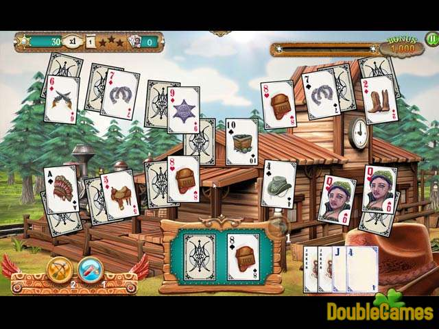 Free Download Solitaire Chronicles: Wild Guns Screenshot 1