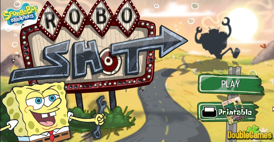 Free Download SpongeBob SquarePants RoboShot Screenshot 1