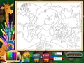 Скачать бесплатно Dora the Explorer: Online Coloring Page скриншот 1